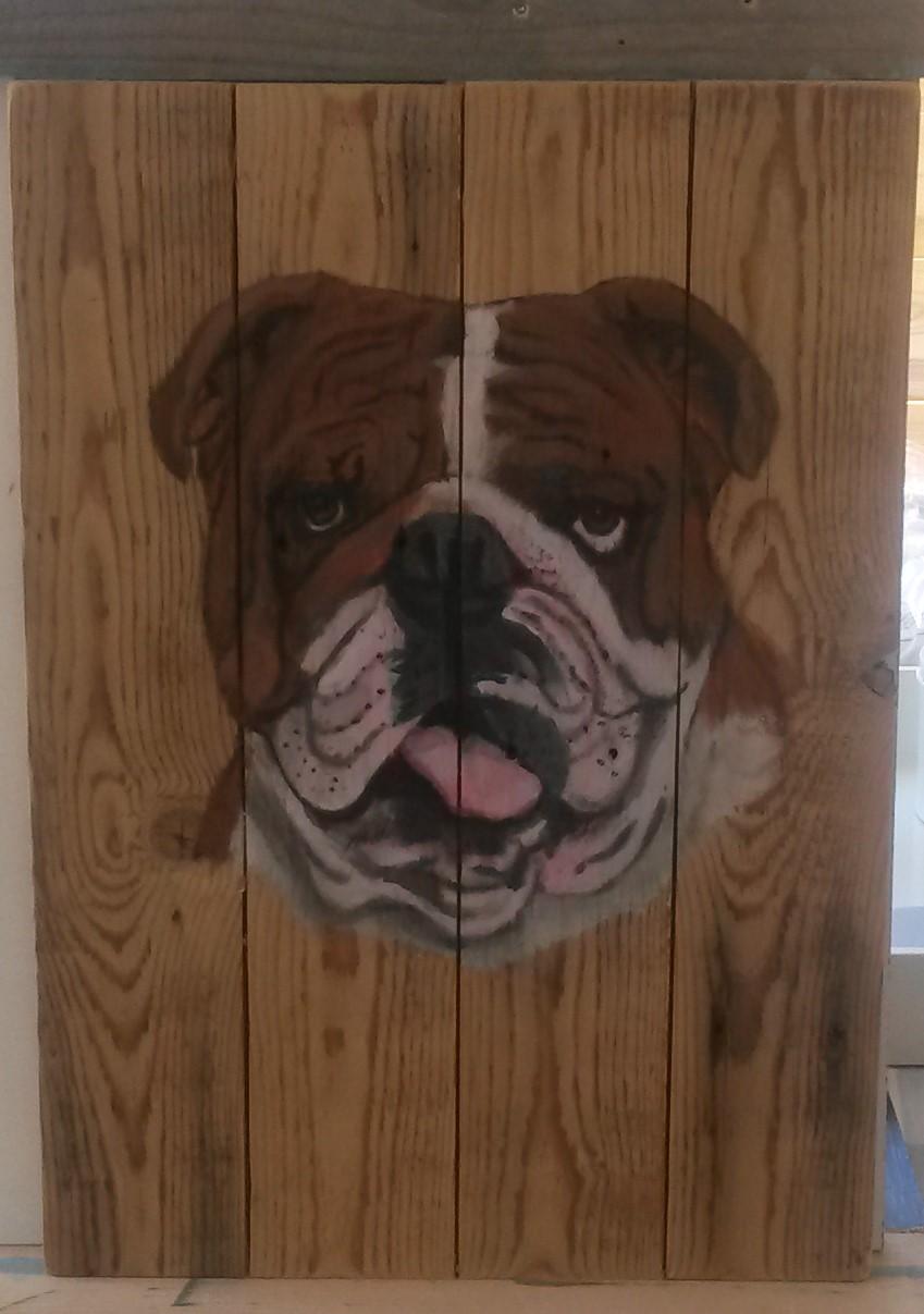 bulldog jeroen middelkamp schilderij