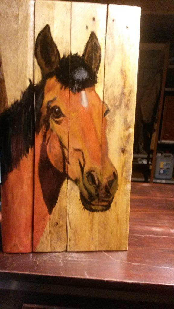 paard houten schilderij jmillustraties jeroen middelkamp schilderijen op hout schilderij voor buiten