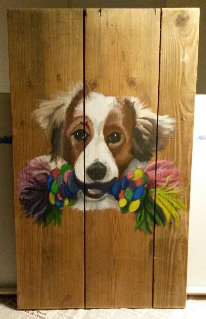 koiker houten schilderij schilderen jeroen middelkamp jmillustraties acryl op hout